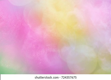 cotton candy bokeh background with a pastel colored gradient