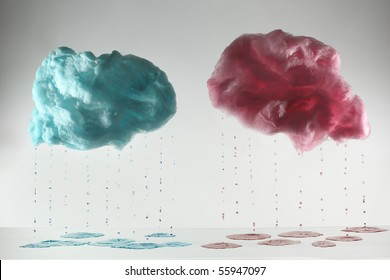 cotton candy in cloud shape