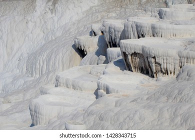 Cotton castle,Pamukkale in Turkish, Cotton castle is famous for a carbonate mineral left by the flowing water.  Cotton Castle, Pamukkale is a natural site in Denizli in southwestern Turkey.