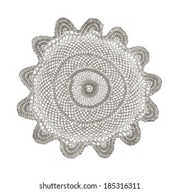 cotton crochet doily isolated on white