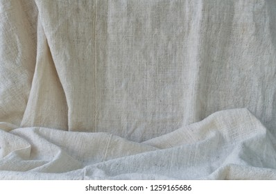 Cotton fabric wrinkled texture background