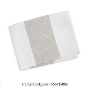 Cotton kitchen napkin isolated on white background.