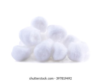 cotton on the white background