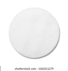 Cotton pads beauty on white background isolation top view