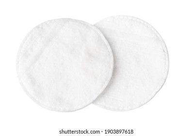 Cotton pads for skin isolated on white background