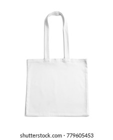Cotton tote bag on white background. Mockup for design