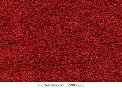 Cotton towel fabric red scarlet color