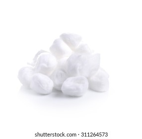cotton wool on a white  background