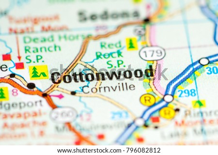 Cottonwood Arizona USA On Map Stockfoto (Jetzt bearbeiten) 796082812 ...