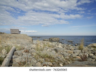 couch at the coast of north of sweden