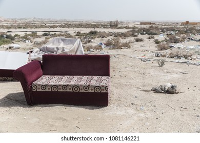 Couch in the desert
