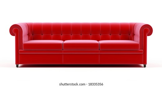 Couch on a white background