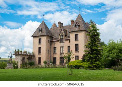 COUCHES, BURGUNDY, FRANCE - JUNE 12, 2016 Medieval castle in Couches, Burgundy, France