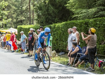 COULOUNIEIX-CHAMIERS,FRANCE-JUL26: The Dutch cyclist Tom-Jelte Slagter (Garmin-Sharp Team) pedaling during the stage 20 ( time trial Bergerac - Perigueux) of Le Tour de France 2014.