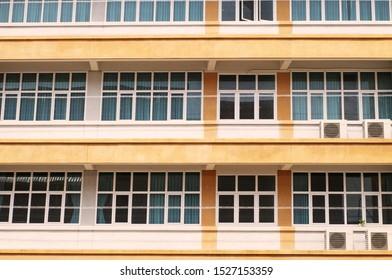 council estate housing block or apartment Block design of housing found across
