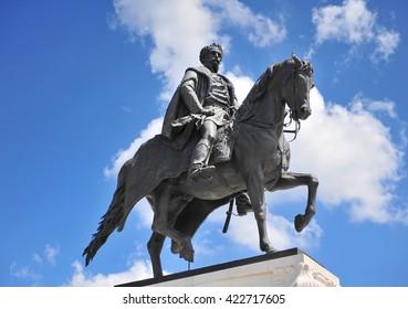 Count Gyula Andrassy Statue, Budapest. Hungary