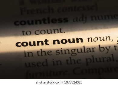 count noun word in a dictionary. count noun concept