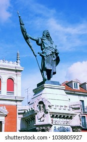 Count Pedro Ansurez at Plaza Mayor, town square in Valladolid, Spain