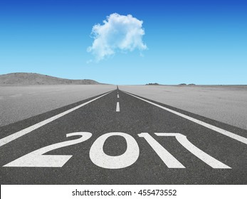 Countdown to 2017 new years concept going into the future