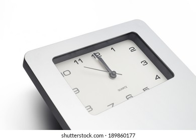 Countdown by watch isolated on white background