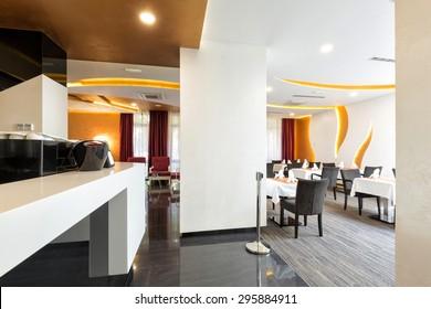Counter in cafe bar restaurant