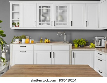 Counter top in a modern kitchen