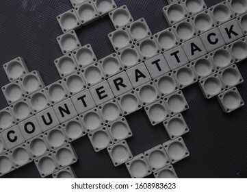 Counterattack, word cube with background