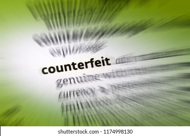 Counterfeit - an object made in exact imitation of something valuable or important with the intention to deceive or defraud.