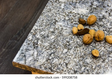 countertops, nuts on it