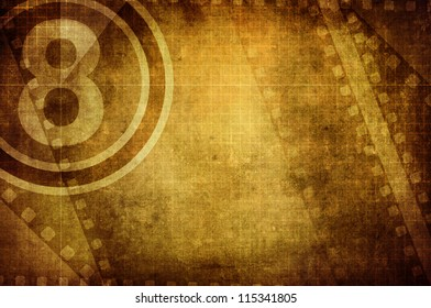counting number grunge film frame