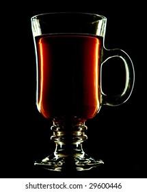 countoured glass over black