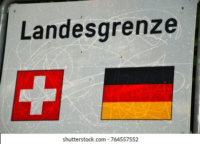 Country border between Germany and Switzerland