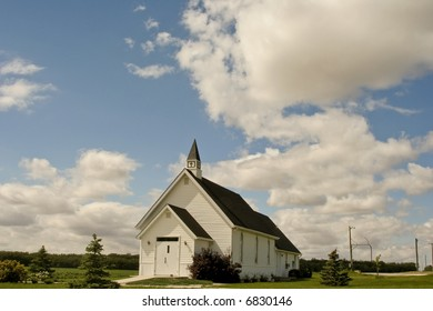 a country church in Manitoba, Canada