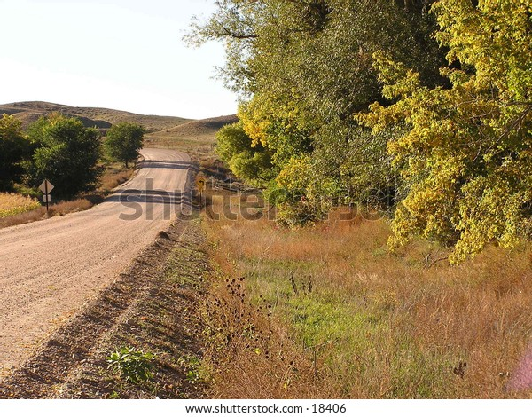 Country dirt road.