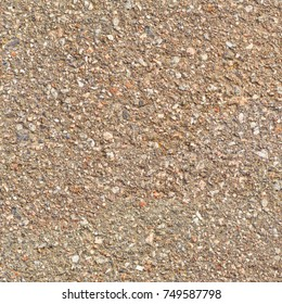 Country dirt road. Texture of small gravel and sand. Seamless background.