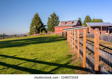 Country farm in rural Oregon countryside.