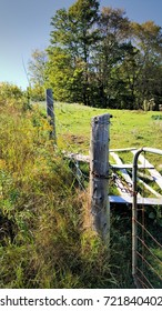 COUNTRY FENCE IN RURAL NORTHERN ONTARIO CANADA