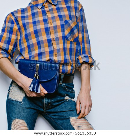 6fa25822a66 Country Girl Summer Fashion Style Accessories Stock Photo (Edit Now ...