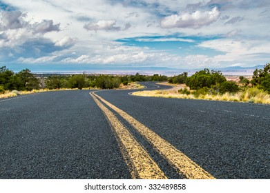 Country highway in Canyon de Chelly, USA, travel adventure concept.