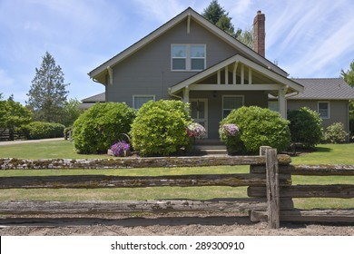 Country home and flower decoration in rural Oregon.