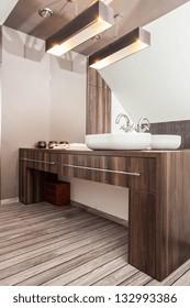 Country home - vessel sink, wash basin in bathroom