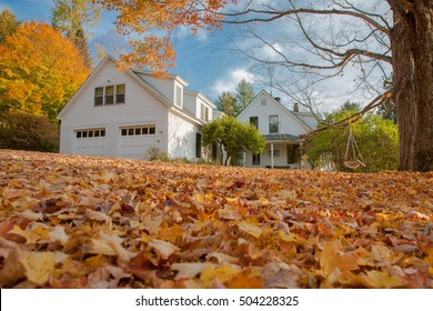 country house in fall