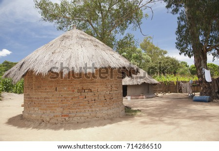 Country House Zimbabwe Typical Village African Stock Photo Edit Now