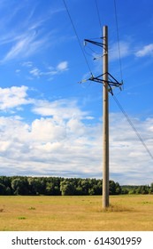 Country landscape with power line