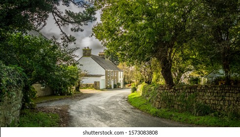 Country Lane and Cottage - Cornwall, UK