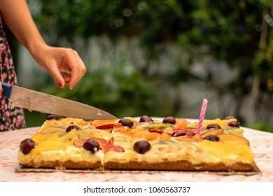 Groovy Country Birthday Cake Stock Photos Images Photography Funny Birthday Cards Online Elaedamsfinfo