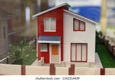 Country modern house minature closed up