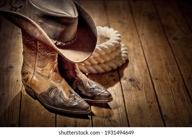 Country music festival live concert or rodeo with cowboy hat and boots background - Shutterstock ID 1931494649