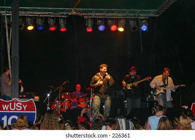 Country music star Josh Gracin In concert at Ocoee River days on 9-25-2004