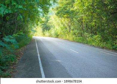 A country road along with nature, holiday and travel concept .
